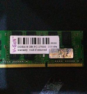 JUAL8GB DDR4 V-GEN Memory RAM Laptop (Lifetime Warranty)