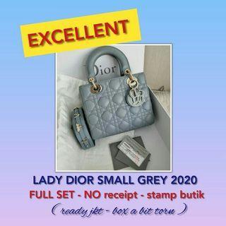 LADY DIOR SMALL GREY 2020