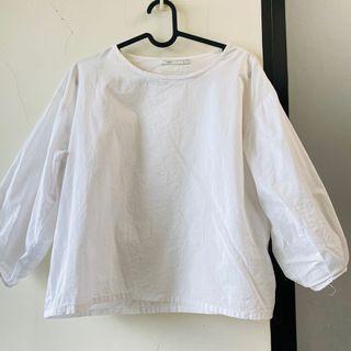 銅板價❤️ Meier q ❤️ 全白襯衫上衣 短袖T恤 短袖上衣 #集氣  pazzo mercci22 大饅大力 meier q