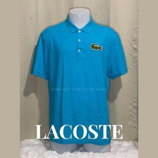 Original 100% Lacoste Big Logo Polo Shirt Size 6