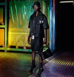 Prada 2018 Nero Silk Skirt ($1, 085 or ₱55,000 ++)