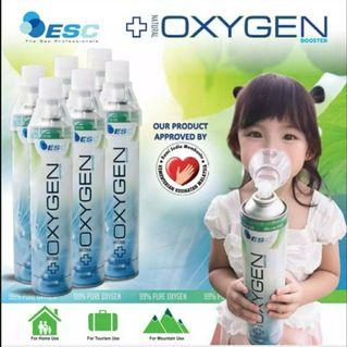Ready Stock Portable Oxygen inhalation spray bottle oxygen supply (1000ml/ Bottle)