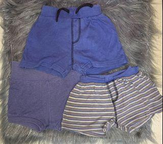 Set of Shorts for 3-6mos baby boy