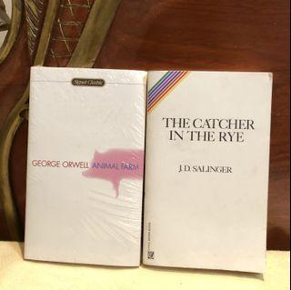 The Catcher In The Rye by JD Salinger AND Animal Farm by George Orwell (Classics - English Literature)