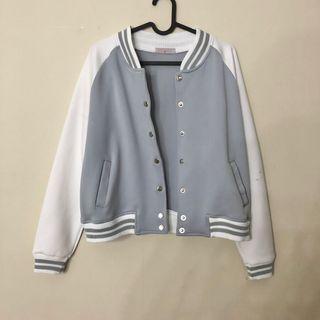 Varsity Jacket (MINUS) Light Blue/white