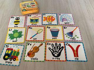 12 cards abc touch and feel alphabet cards