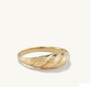 14K Mejuri Thin Croissant Dome Ring