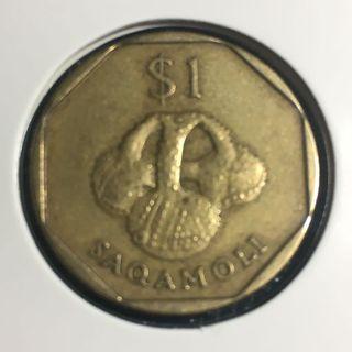 1995 Fiji 1 Dollar - Elizabeth II > Saqamoli