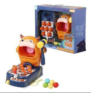 4合1牛牛打地鼠 益智玩具 桌遊 彈珠 射擊 兒童益智早教 親子互動玩具