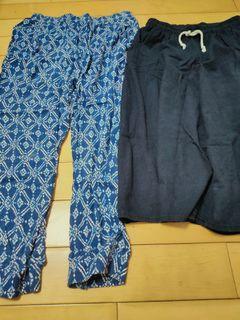 夏季寬褲子兩件,孕期也可以穿