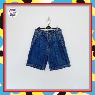 二手 男人味 藍色 丹寧 打摺 牛仔 高腰 30 短褲 JA723 【前列腺超音波】