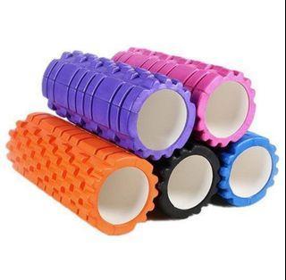 狼牙泡沫瑜珈滾輪 平衡滾筒 狼牙棒 泡沫軸 滾軸 瑜伽 皮拉提斯 平衡棒 EVA 滾筒輪 【P503】,9成新,粉紅色