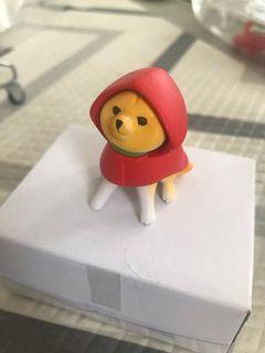 柴犬扭蛋 風褸 下雨 Shiba