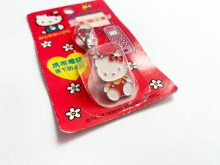 日本 絕版 kitty 可吊可夾式吊飾