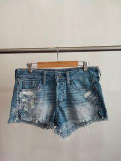 Abercrombie and Fitch Frayed Low Waist Shorts