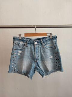 Abercrombie and Fitch Highwaist Shorts woth Side Rivets