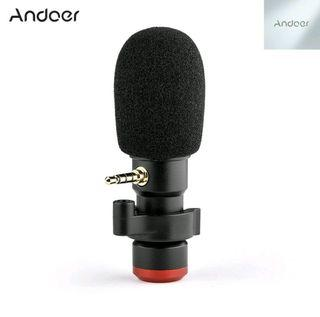 Andoer MIC 06 Mini Portable Compact HiFi Microphone VLOG With Headphones Monitoring Live Streaming.