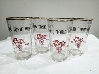 Antique Invalid Tonic Wine Glasses (4)