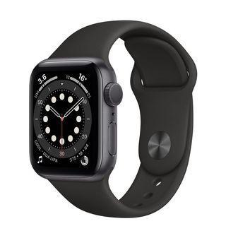 全新正貨)Apple Watch Series 6  44公釐、太空灰錶框、黑色錶帶