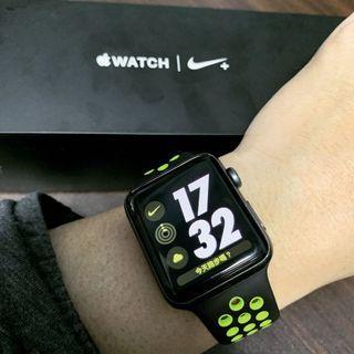 AppleWatch2 Nike+42mm盒裝完整