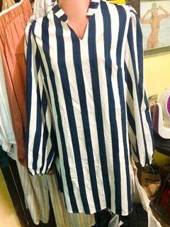 Auth💯 SHEIN Shirt Dress Long Sleeves M-L