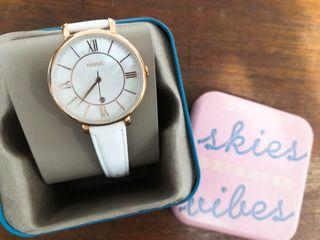 Brand New Original Fossil watch with white pearl plate