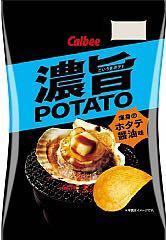 日本Calbee卡樂比 濃旨醬油扇貝洋芋片