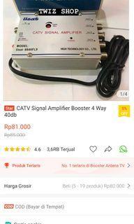 CATV signal amplifier booster 4 way