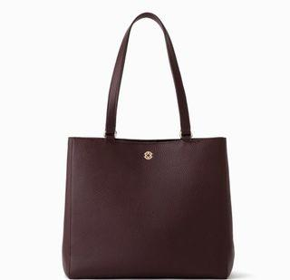 Dagne Dover Allyn Medium Tote in Oxblood Leather