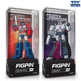 FiGPiN Transformers Optimus Prime Megatron