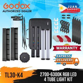 GODOX TL30 2700k-6300k RGB LED Tube Light Kit with 36000 Multi Color Function and 13 Tunable Effect modes with Wireless Bluetooth Control via Godox App Support | Juan Gadget