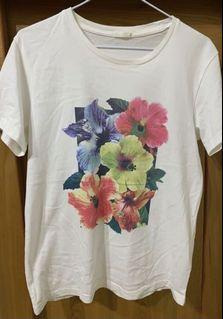 Gu 花朵 花卉 上衣 短袖T恤 #集氣