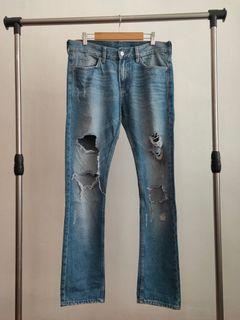 H&M Slim Fit Distressed Jeans