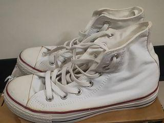 [購物贈]lativ 高筒 白色 帆布鞋