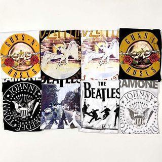 NEW H&M Vintage Band Shirts Led Zeppelin Guns N Roses Beatles Ramones