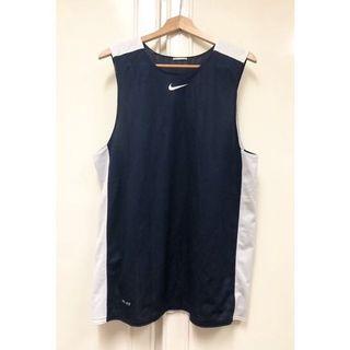 NIKE DRI-FIT雙面穿球衣 深藍*白 網布 籃球衣 運動背心