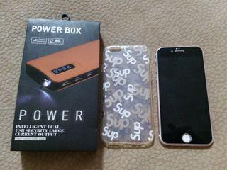 Offer iphone 6s 128gb good condition free power bank