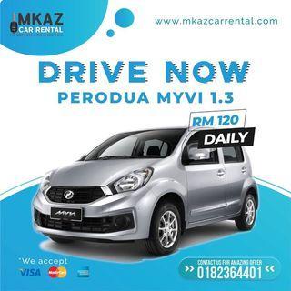 Perodua Myvi 1.3 2017 Moovby Car Rental