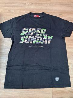 SUPER SUNDAY Black Camo T-Shirt