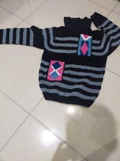 Sweater bahan rajut wol