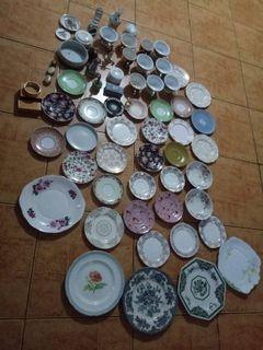 Take All Antique Plates, Saucer, Cups etc