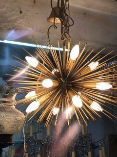vintage 24 inches Brass Sputnik Chandelier  Hanging Lamp
