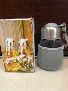 304不鏽鋼呆萌企鵝玻璃杯(附杯套)