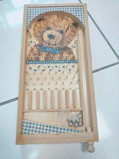 古早風熊熊木頭質感手做彈珠台