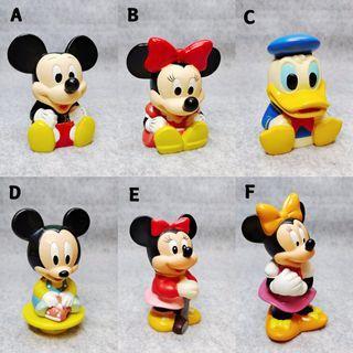 昭和 老物 迪士尼 嬰兒 米奇 米老鼠 米妮 唐老鴨 東京 三菱銀行 企業公仔 貯金箱 存錢筒 絕版 限定 公仔 玩具