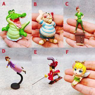 迪士尼 絕版 限定 peter pan 彼得潘 小飛俠 小叮噹 小精靈 鱷魚 史密先生 虎克船長 玩具 公仔 絕版 限定