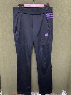 愛迪達 adidas 黑紫橫條滑面舒適長褲 #5 #集氣