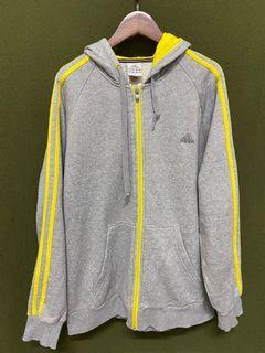 愛迪達 adidas 灰黃棉質大件外套 #5 #集氣