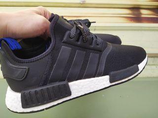正品  Adidas NMD R1 boost 中底 黑白藍 3M 反光 運動鞋 休閒鞋S31515