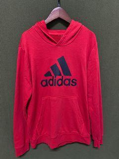 愛迪達 adidas 黑紅棉質大件厚磅帽T #5 #集氣